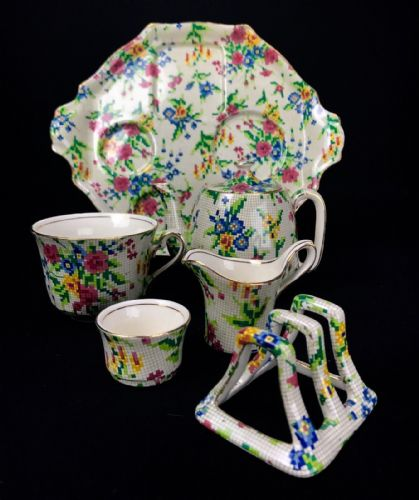 Royal Winton Breakfast Set / Batchelor Tea For One / Queen Anne Chintz Antique